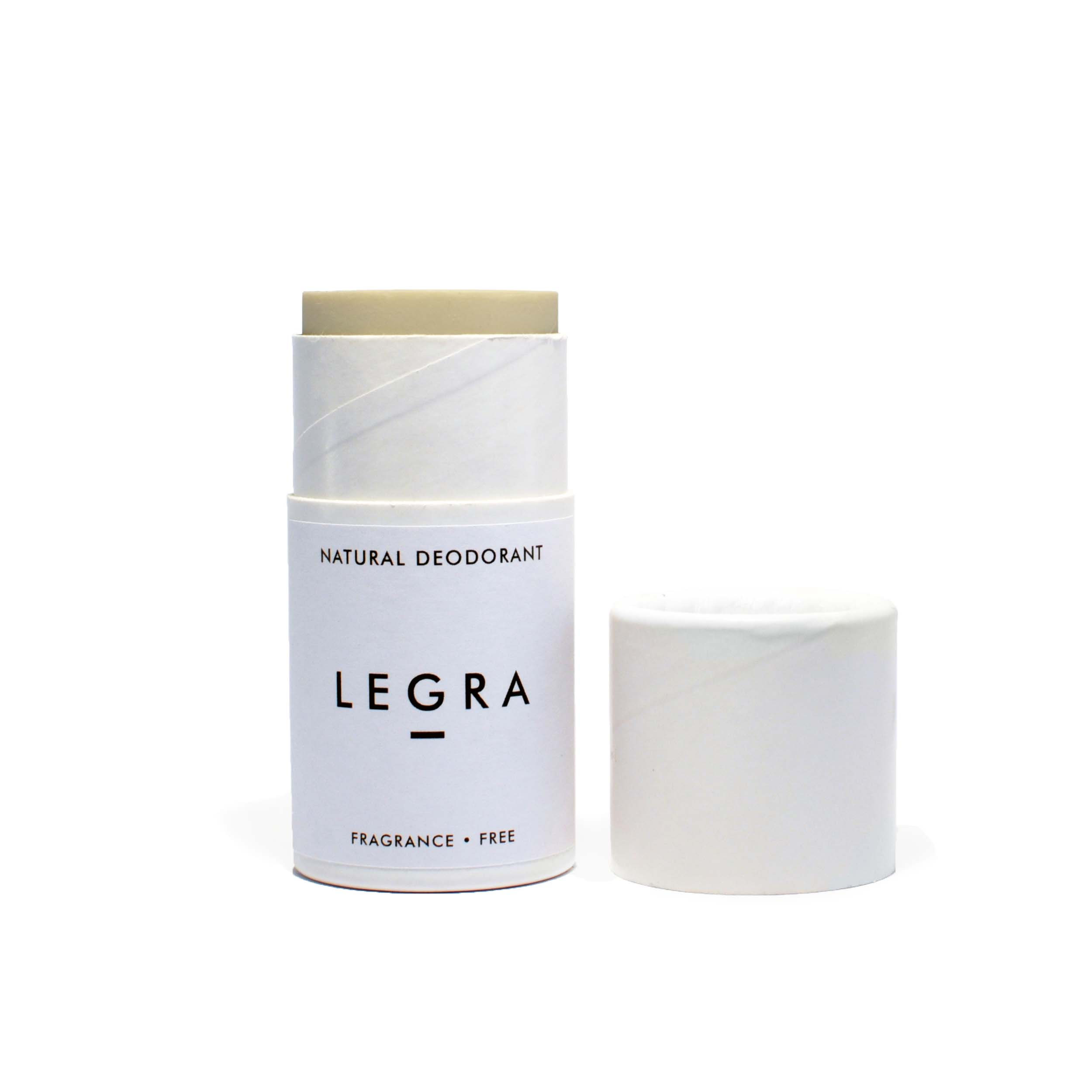 Natural Deodorant Stick. Fragrance Free