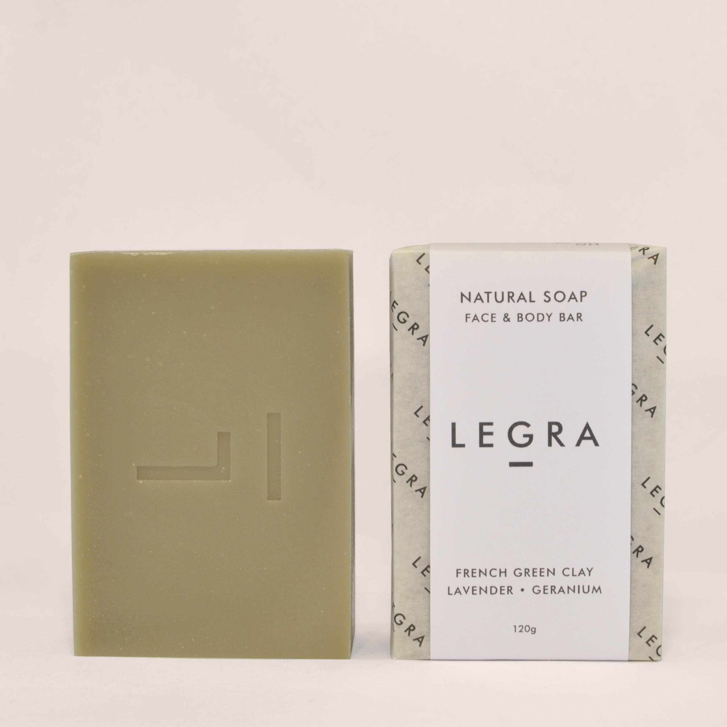 French Green Clay Soap with Lavender, Geranium & Patchouli