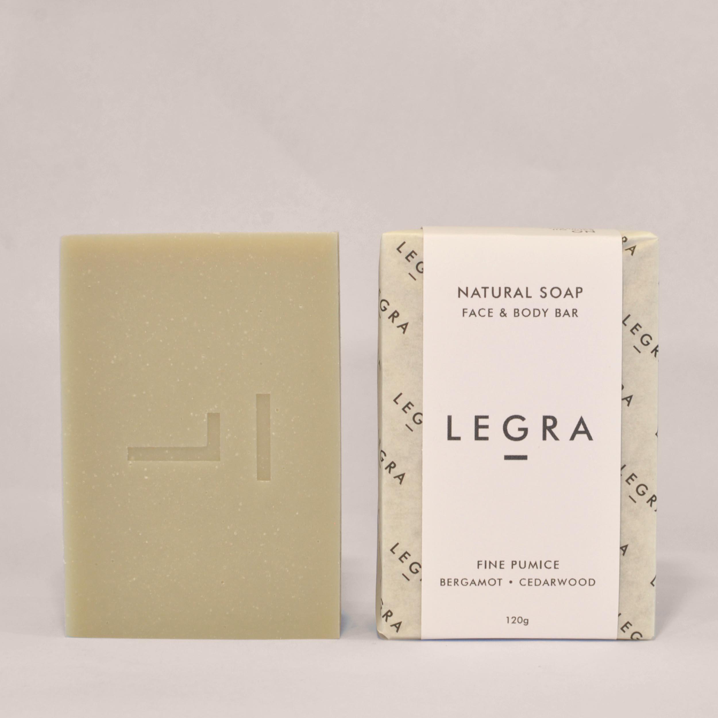 Fine Pumice Soap with Bergamot & Cedarwood