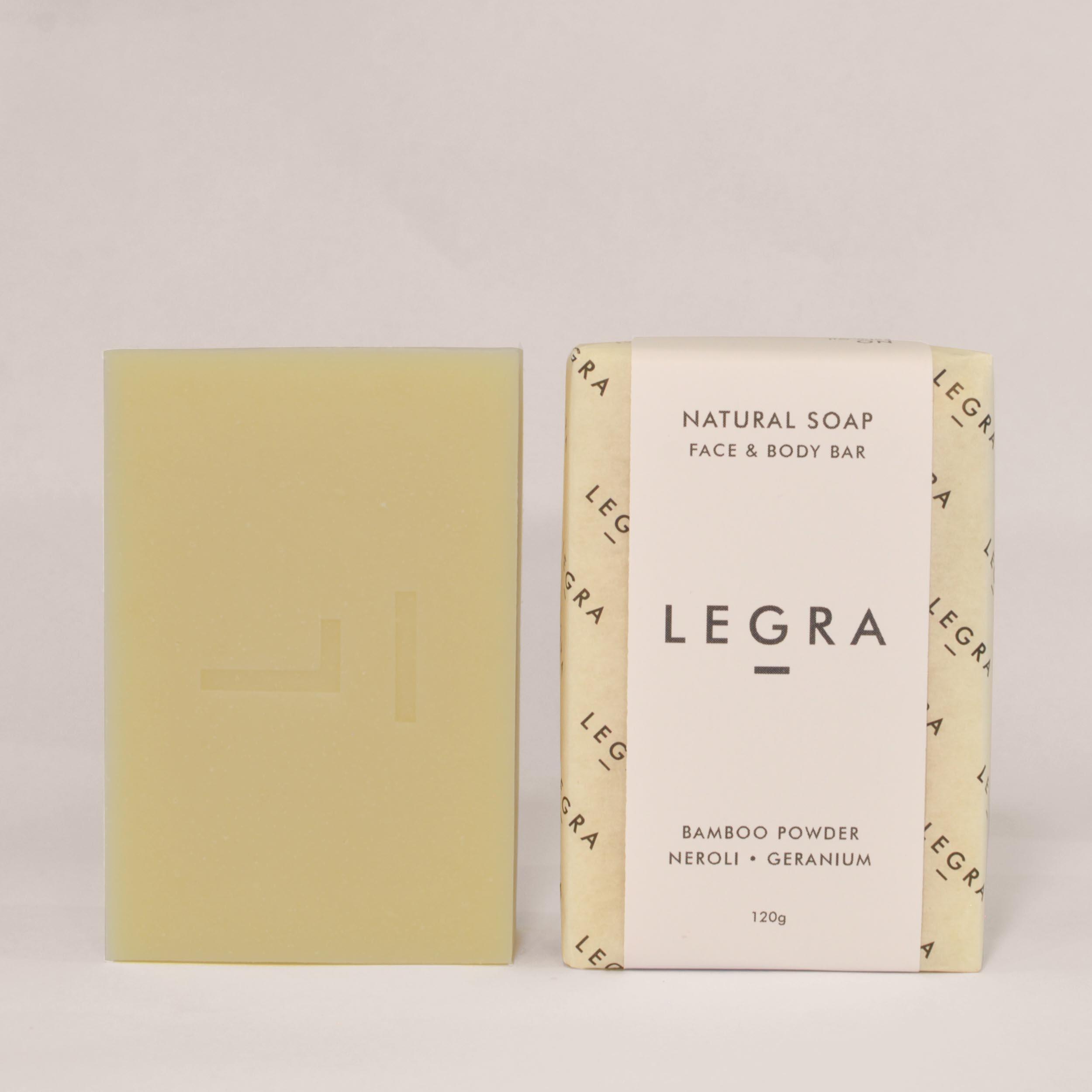 Kaolin Clay & Bamboo Powder Soap with Neroli, Geranium & Fennel
